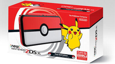 New Nintendo 2DS XL Poke Ball edition (PAL) new unused