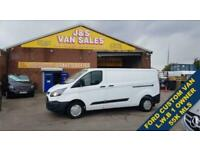 2013 63 FORD TRANSIT CUSTOM L.W.B 1 OWNER ONLY 55OOO MLS