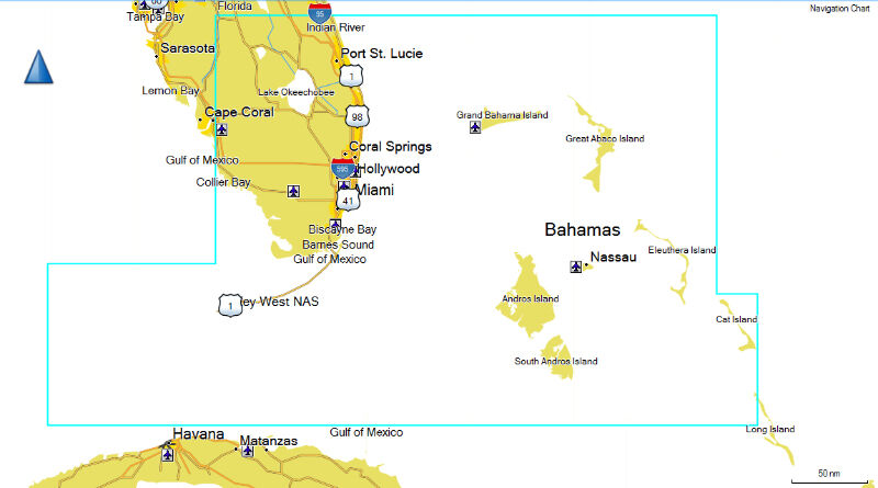 Southeast Florida Map.Bluechart G2 Vision Hd Southeast Florida Map For Garmin Download