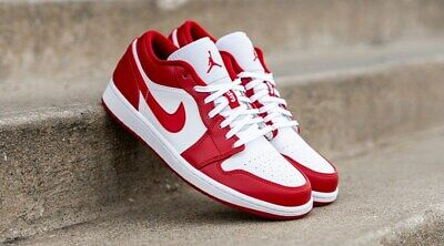 Air Jordan 1 Low Gym Red White 553558-611 Basketball Shoes Men's Multi Size NEW