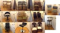 collection of different kind/size of chairs