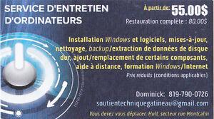 Service d'entretien d'ordinateurs & Formation