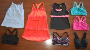 Lot 8x High End Sports Bras Tanks Under Armour Adidas Nike S/M