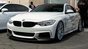BMW 3-4 SERIES CARBON FIBER FRONT LIP BUMPER