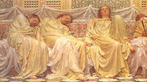 Dreamers by Albert Moore -  1882 Painting - Victorian Beauty