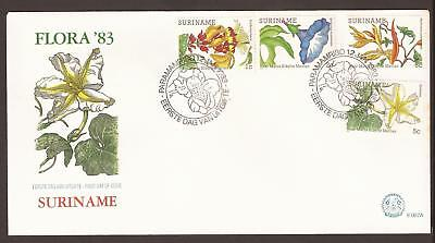 Suriname 1983, FDC. Flower paintings, flora