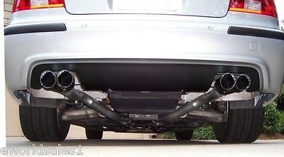 "BMW Dual Stainless Steel Exhaust Tips 3 5-series 2.5"" 3.5"" Quad Outlets E39 M5"