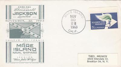 Us  1234 Alliance For Progress Cachet Uss Stonewall Jackson Ssbn 634 Launch 1963