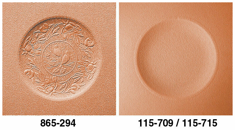 """18"""" - Plain Round Embossed Fiber Seat (Right Image Only)"""