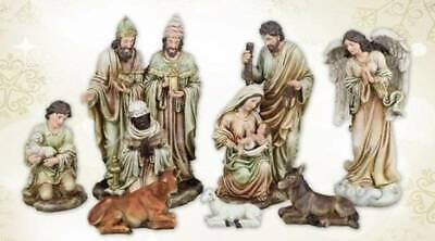 Nativity Set 18 inch Statues Rustic Old World Charm Durable Indoor Outdoor Resin