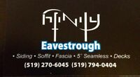 Hiring qualified individual for eavestrough, soffit, fascia etc.