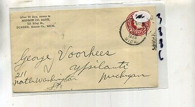 Dundee Michigan 1928 Monroe County Bank Stamp Cover