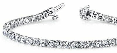 11.40 carat Round Diamond Tennis Bracelet 18k white Gold 38 x 0.30 ct GIA E-F VS 1