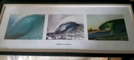 Surf painting in frame