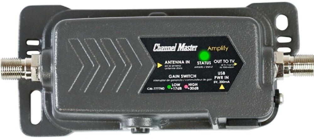 FREE TV ! OTA BEST Channel Master TV Antenna Amplifier Adjus