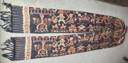 ANTIQUE/VINTAGE SUMBA IKAT CLOTH INDONESIAN WEAVING FROM OLD DUTCH COLLECTION