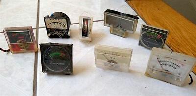 Vintage Lot Of 8 Small Analog Gauges Meters Industrial Steam Punk
