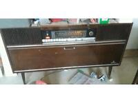 Old Grundig radiogram record player