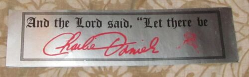 RARE ORIGINAL CHARLIE DANIELS AND THE LORD MUSIC/CONCERT BUMPER STICKER/DECAL