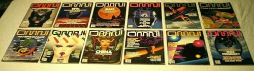 Vtg 1985 OMNI Science Fiction Magazine JAN-DEC All 12 Issues FREE PRIORITY SHIP!