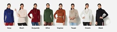 IMAN Global Chic Lightweight Signature Turtleneck Long Sleeve Top Long Sleeved Turtleneck
