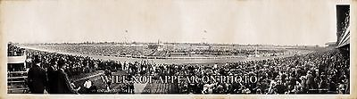 """1941 Kentucky Derby Churchill Downs Louisville KY, 25"""" Vintage Panoramic Photo"""