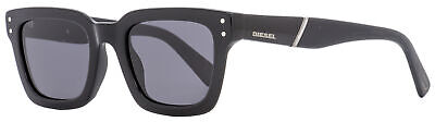 Diesel Rectangular Sunglasses DL0231 01A Black 51mm (Shades Diesel)