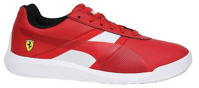 Puma Ferrari Podio Tech SF Red Lo Lace Up Mens Trainers 305661 01 D57
