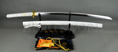 HANDMADE JAPANESE SAMURAI KATANA SWORD 1060 HIGH CARBON STEEL FULL TANG SHARP