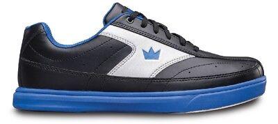 Mens Brunswick RENEGADE WIDE Bowling Shoes Black/Blue Sizes 8-13 WIDE