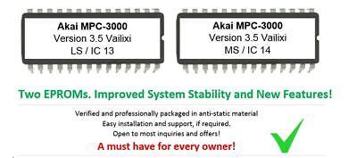 Akai S900 Version 1.2C OS Update Upgrade Firmware Eprom for S-900 Midi Sampler