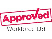 Labourer - £9 per hour - Stafford - Call Approved Workforce 01132026059