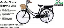 BRAND NEW ELECTRIC BIKE GO GO CLASSIC BLACK/SILVER NOW AVAILABLE IN STORE