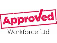 Joiners required - £19 per hour (nights) - call Approved Workforce 01132026059