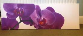 Purple flower wall canvas
