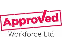 Labourers required - £13 per hour (Nights) - call Approved Workforce 01132026059
