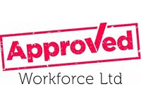 Labourer - £10 per hour - Tamworth - Call Approved Workforce 01132026059