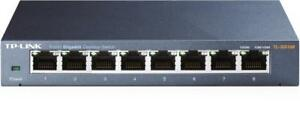 TP-Link TL-SG108 Unmanaged Desktop Switch - (8) 10/100/1000 Gigabit Ports - 1730502079