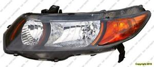 Head Light Driver Side Coupe 6 Speed 2.0L High Quality Honda Civic 2006-2009