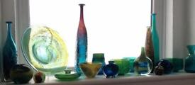 Collection of early mdina medina Maltese art glass