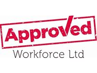 Labourer - £10 per hour - call Sarah at Approved on 0113 2026059