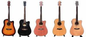 Guitares acoustiques, guitares électriques, guitares basses, Ukuleles