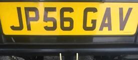 Private plate JP56 GAV (GAVIN)