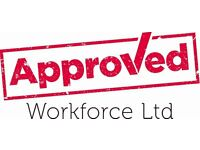 Labourers - £13 per hour - Nights - Birmingham - call Approved on 0113 2026059