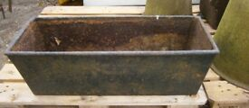 Elliot & Garrood Beccles antique cast iron trough tank planter
