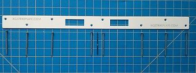 Strike Plate Door Jam Reinforcement helps Secure your Door White Reinforcer Strike Plate