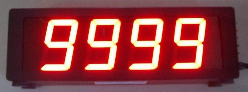 "4 DIGIT - INDUSTRIAL PRODUCTION COUNTER DISPLAY - 2.3"" HIGH LED DIGITS"