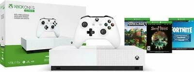 NEW Xbox One S 1TB All Digital Edition Console with 3 Games Fornite gift bundle