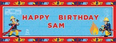 Feuerwehrmann Sam Banner personalisiert Geburtstag Bithday Fireman Fest Party