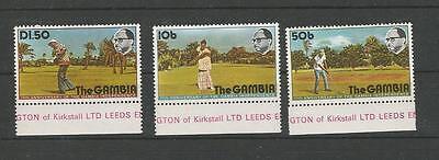 GAMBIA 1976 11J. UNABHÄNGIGKEIT GOLFSPIELER